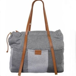 CHLOE Grey and Leather Diaper Bag